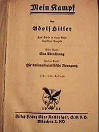 Adolf Hitler. Mein Kampf