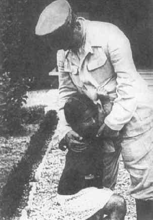 И.В. Сталин с дочерью Светланой, 1938 год.